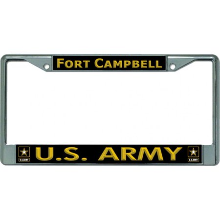 U.S. Army Fort Campbell Chrome License Plate Frame - image 1 of 1