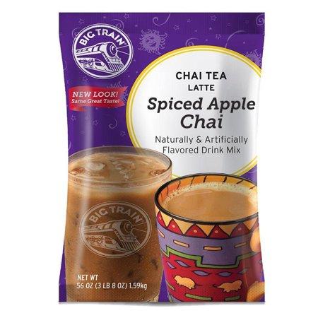 Big Train Chai Tea Latte Mix, 3.5 lb Bag - Spiced Apple (Individual) Chai Latte Mix