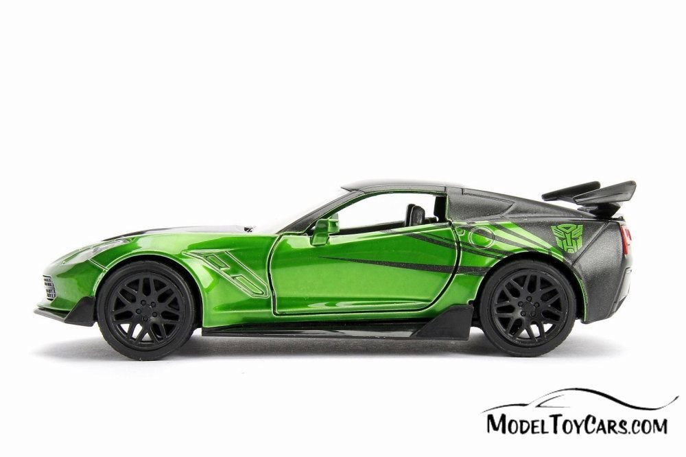 1:32 Transformers Chevy Corvette Crosshairs Toy New