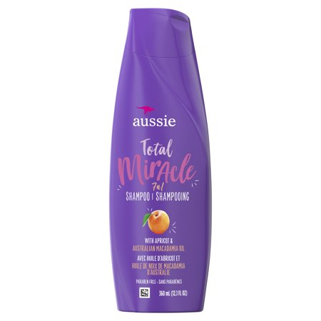 Aussie Paraben-Free Total Miracle Shampoo w/ Apricot & Macadamia For Hair Damage 12.1 fl oz