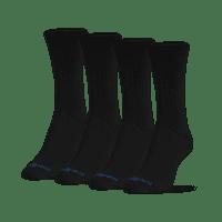 MediPeds Women's Diabetic CoolMax Crew Socks, Medium, 4 Pack