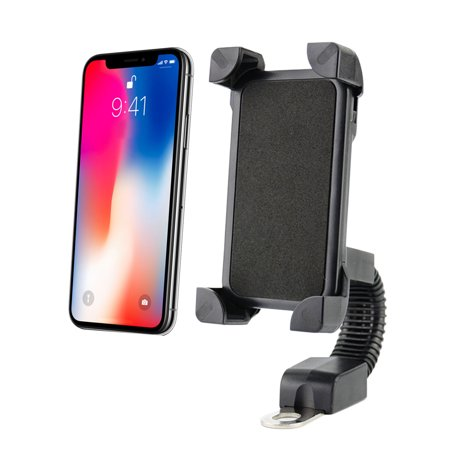 Motorcycle Phone Mount, Motorbike Holder Motorcycle Handlebar Adjustable Mount Cradle Stand Bracket for Universal Phones/GPS/iPhone/Samsung Galaxy