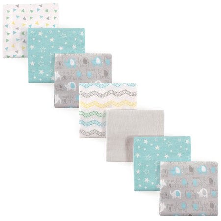 Baby Girl Elephant Theme (Luvable Friends Baby Boy and Girl Flannel Receiving Blanket, 7-Pack, Basic)