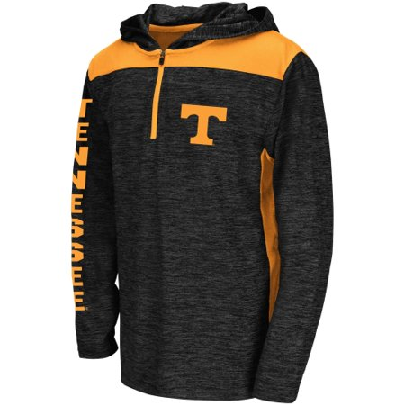 Tennessee Volunteers Colosseum Youth Quick Kick Quarter-Zip Hoodie - Heathered Black