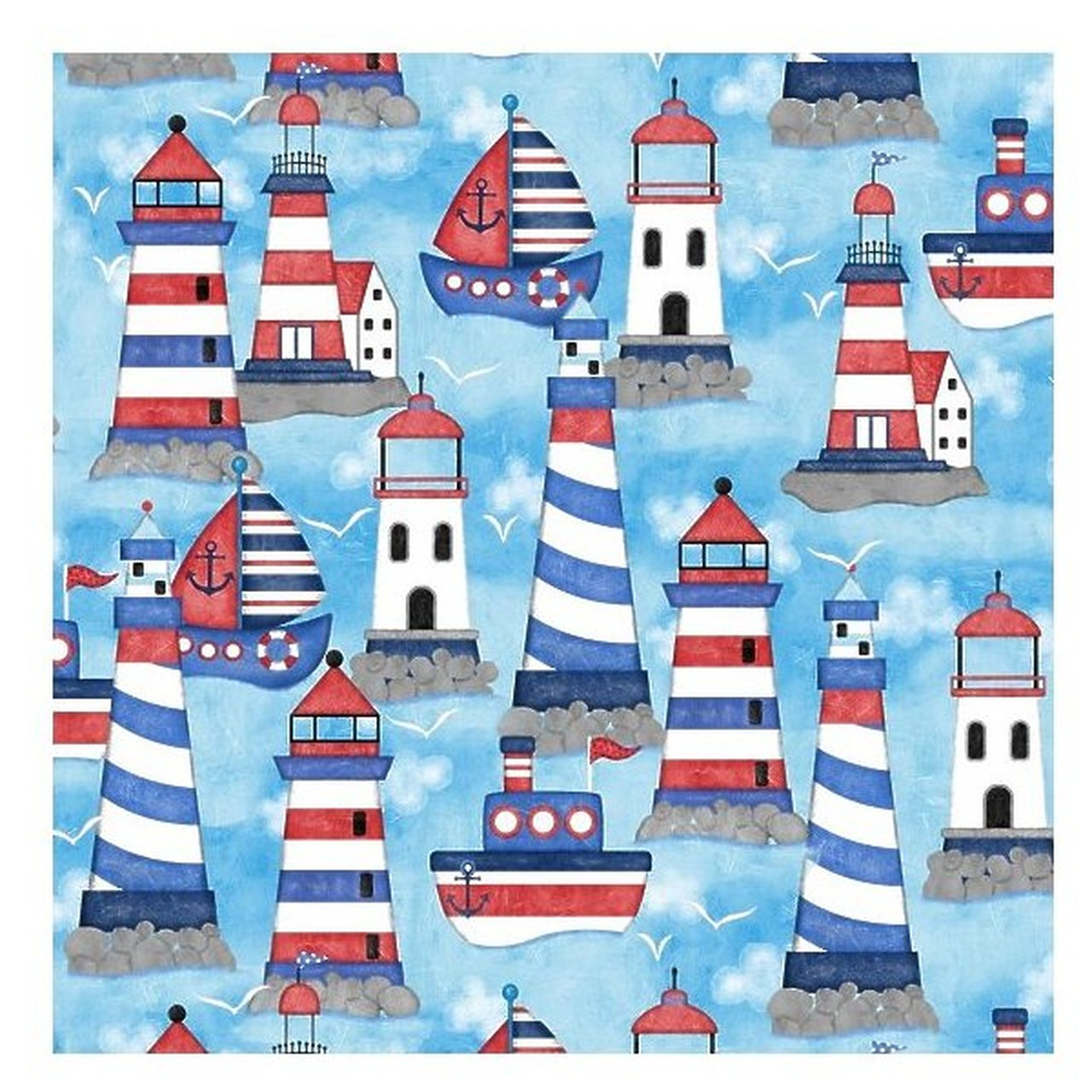 Red White and Starry Blue Quilt Labels 23 X 44 by Studio E