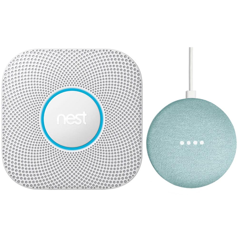 Nest Protect 2nd Generation Smoke/Carbon Monoxide Alarm Battery + Speaker Aqua