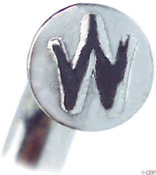 Wheelsmith SS14 Spokes 2.0 x 186mm, Silver, Bag of 50