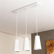 Vonn Lighting VMP21523WH 11 inch x 6 inch LED Gatria Pendant Lights with Glass Shades, White
