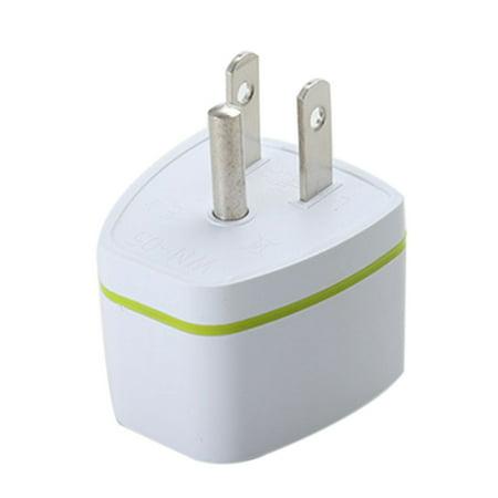 Universal US 3 Pin Travel Power Adapter Plug Converter (White) ()