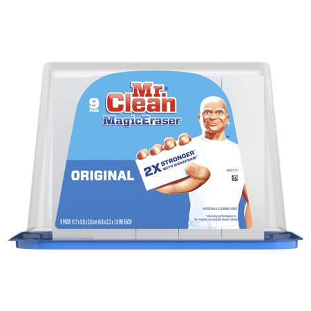 Mr. Clean Magic Eraser Original, Cleaning Pads with Durafoam, 9 count - Mr Clean Baby For Halloween