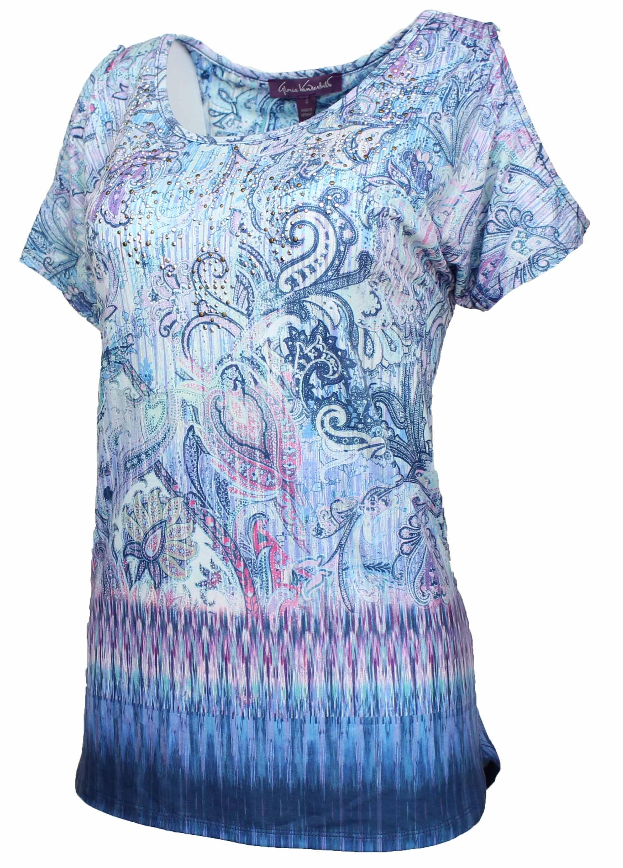 Gloria Vanderbilt Womens Blouses Shirts Walmart Com