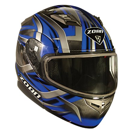 Zoan Flux 4.1 Modular Double Lens Devil Graphic Snow Helmet Gloss Black/Blue X-Small