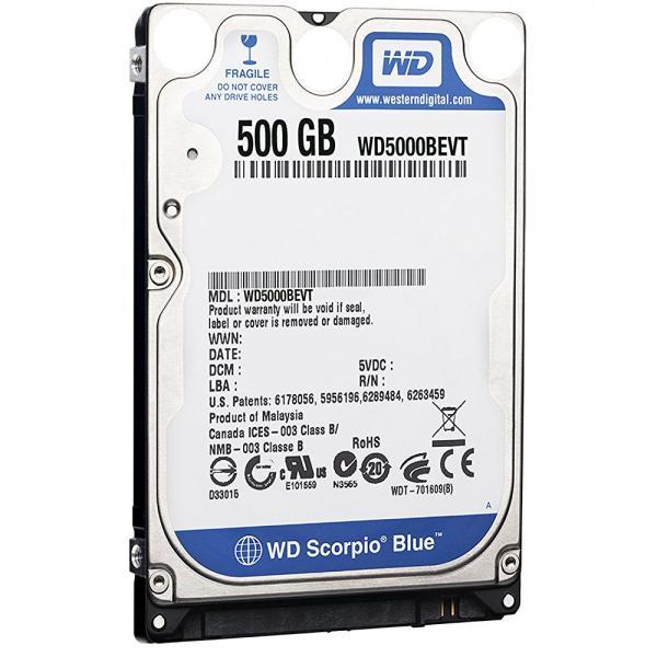 Western Digital Scorpio Blue 500 GB Bulk OEM Hard Drive 2.5 Inch, 8 MB Cache, 5400 RPM SATA II WD5000BEVT by Western Digital