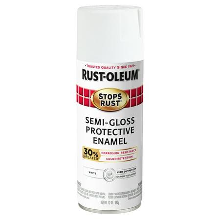 (3 Pack) Rust-Oleum Stops Rust Advanced Semi-Gloss White Protective Enamel Spray Paint, 12