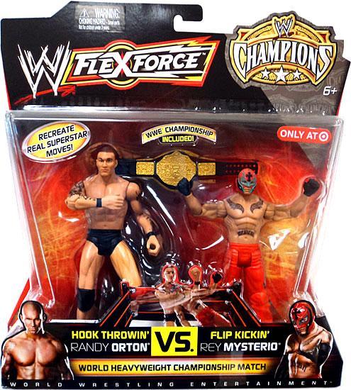 Hook Throwin' Randy Orton VS. Flip Kickin' Rey Mysterio Action Figure 2-Pack