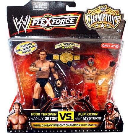 Hook Throwin Randy Orton Vs  Flip Kickin Rey Mysterio Action Figure 2 Pack