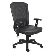 Boss Office & Home Black Pneumatic Back Support Office Chair