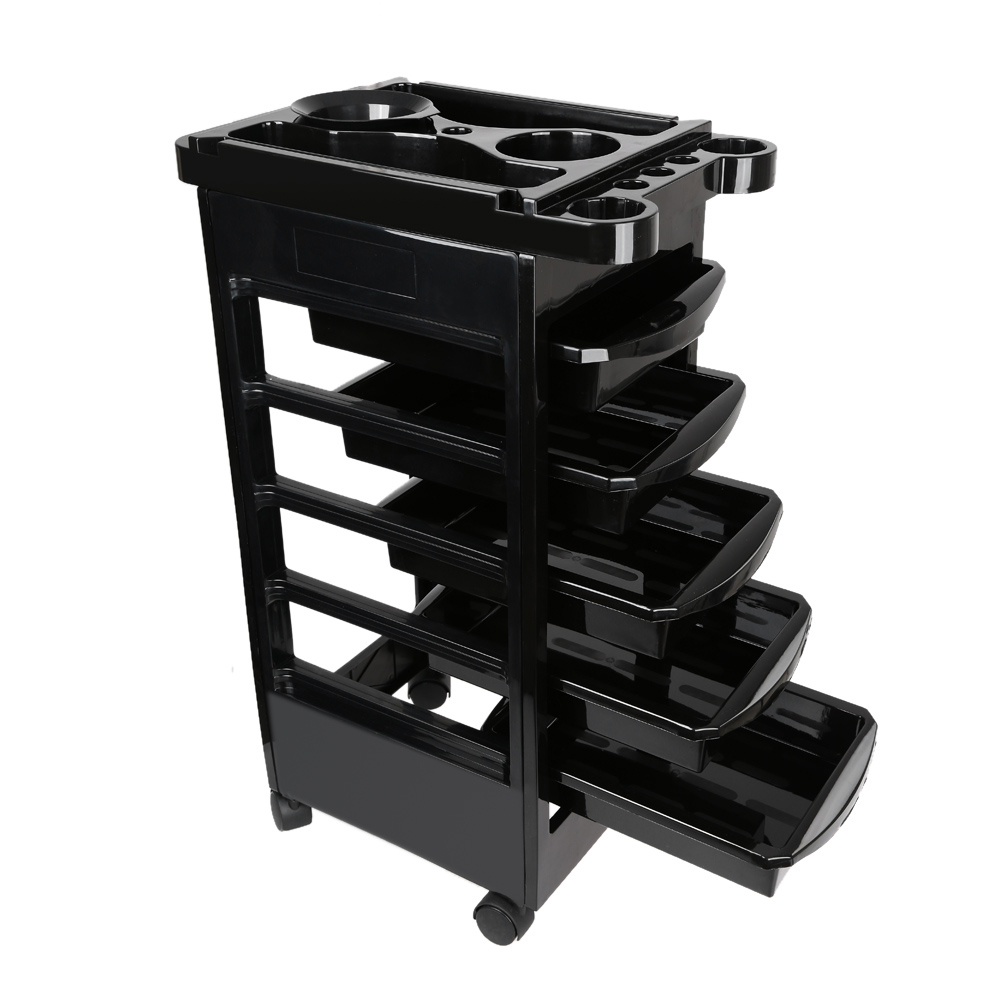 Anself Salon Hairdresser Trolley Barber Beauty Storage Hair Rolling Cart