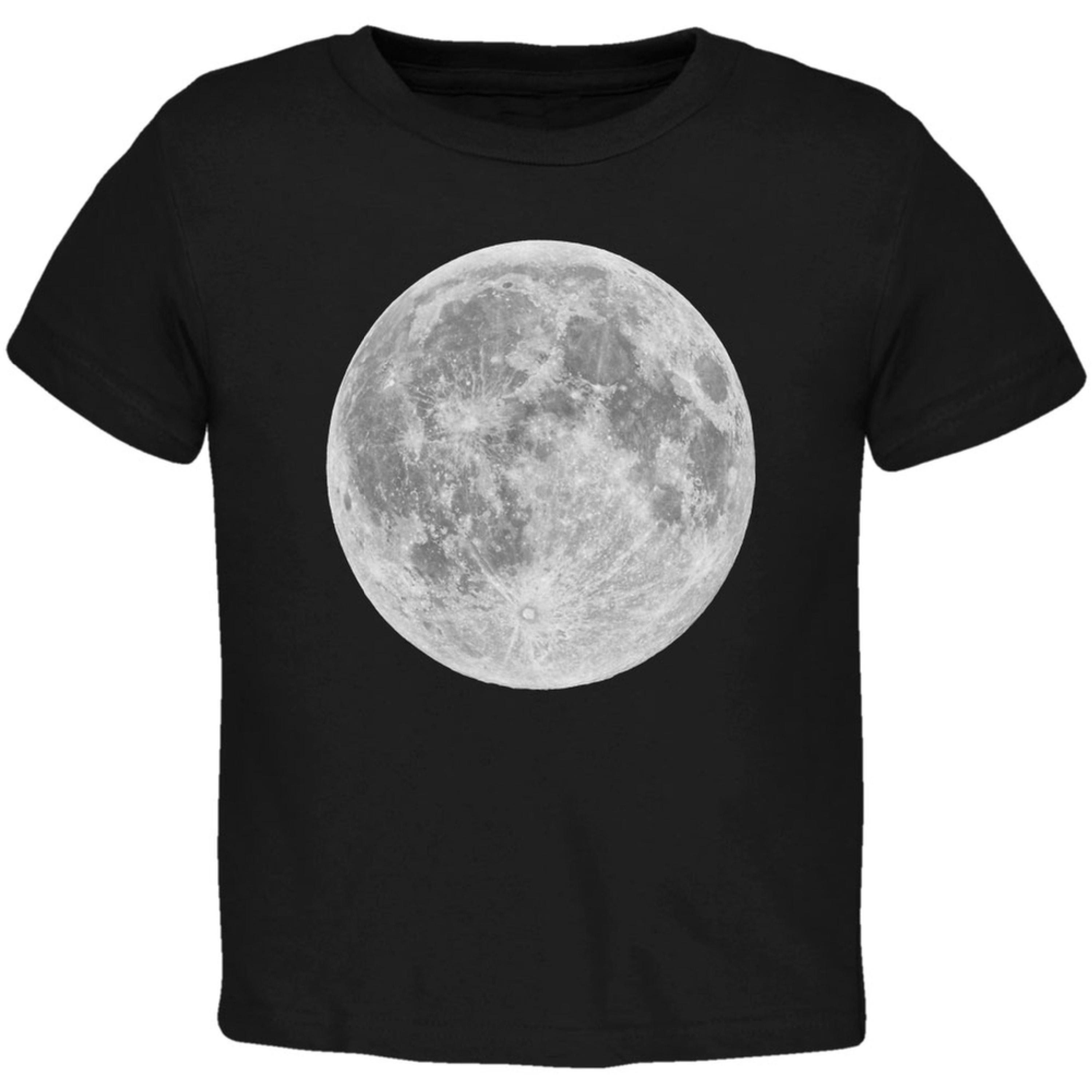 Earth's Moon Black Toddler T-Shirt