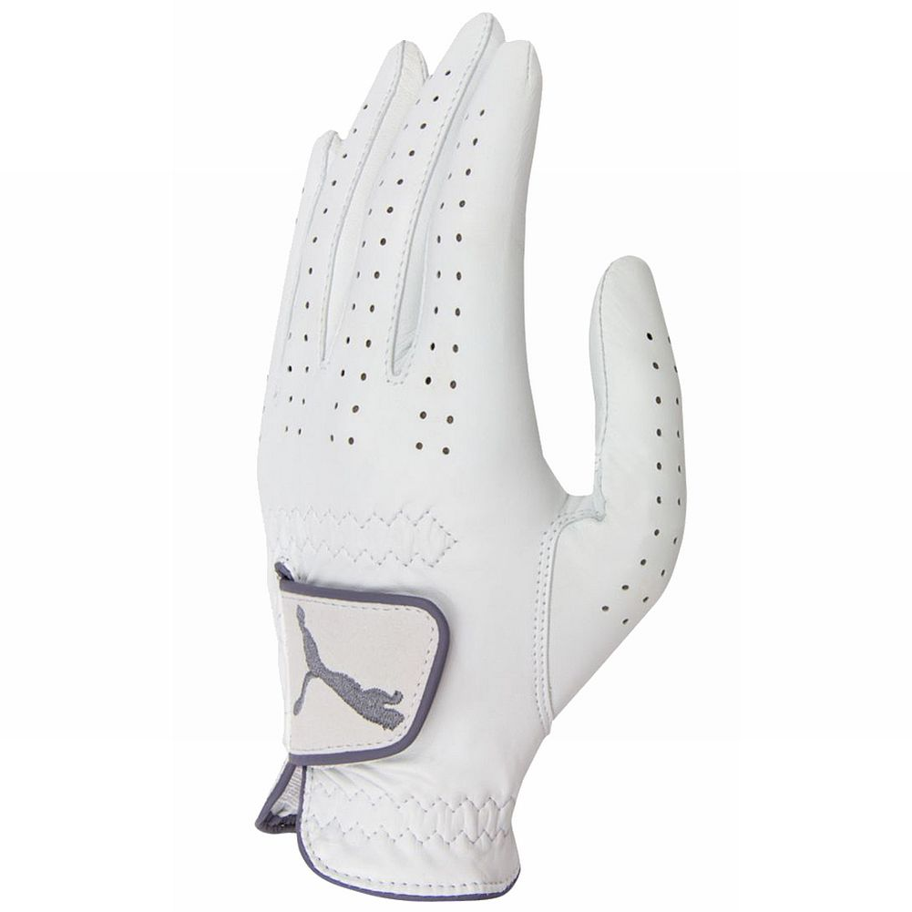 Puma Pro Performance Leather Golf Glove (Women's LEFT, White FS) New by Puma