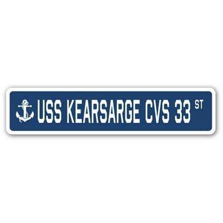 Uss Kearsarge Cvs 33 Street Sign Us Navy Ship Veteran Sailor Gift