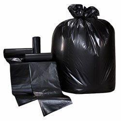 Colonial Trash Bag Black, 38 x 58 , 60 gallon, Extra Heavy Duty, 17 mic. 200 Count