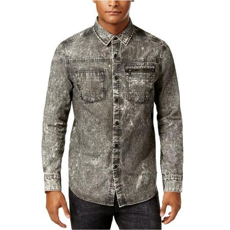 322d3154c69 Sean John - Sean John Mens Painted Denim Button Up Shirt - Walmart.com
