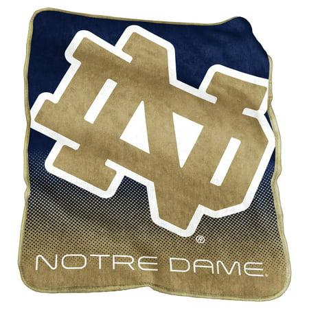 Notre Dame Fighting Irish Navy/White Raschel Throw