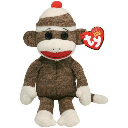 Ty Beanie Baby Socks The Sock Monkey Brown Multi Colored Walmart Com