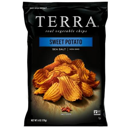 (2 Pack) TERRA Sweet Potato Chips with Sea Salt, 6 (Terra Blue Potato Chips)