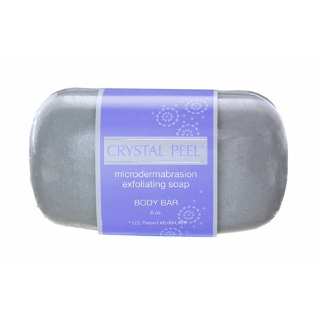 Crystal Peel Lavender Microdermabrasion Exfoliating Soap Body Bar, 8 Ounce