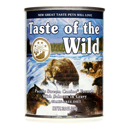 Taste of the Wild Pacific Stream Grain-Free Wet Dog Food, 13.2 oz, Case of (Taste Of The Wild Pacific Stream Dog Food)
