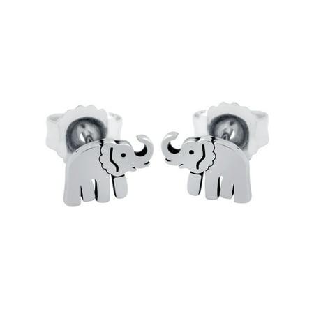 Elephant Earings - Sterling Silver Elephant Stud Earrings