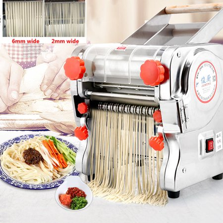 110V 750W 220 Automatic Electric Pasta Machine Maker Press Noodles Dumpling Skin Machine Producing  ,Noodle wide 2mm/6mm ()