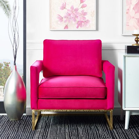 Willa Arlo Interiors Aloisio Velvet Upholstery Armchair - Walmart.com