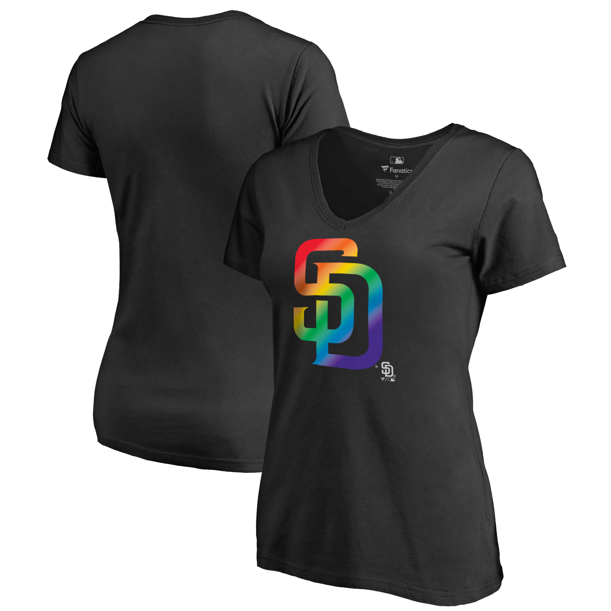 San Diego Padres Fanatics Branded Women's Pride T-Shirt - Black