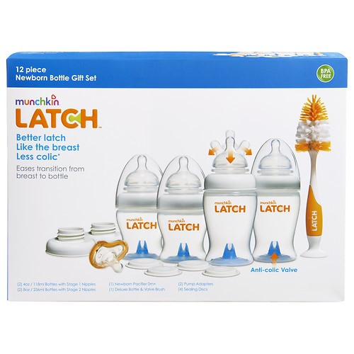 Munchkin LATCH Newborn Bottle Gift Set, 1 set