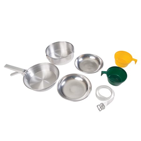 Stansport Mess Kit - 2 Man Aluminum - Polished