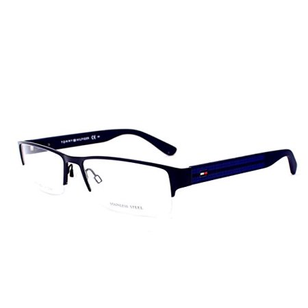 TOMMY HILFIGER Eyeglasses 1236 01Ic Matte Dark Blue 55MM ()