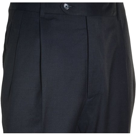 8437b9ec1082 Kirkland Mens Gabardine Wool Pleated Dress Pants (Blue Nailhead, 34X34)