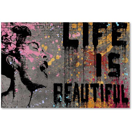 Trademark Fine Art Life Is Beautiful Canvas By Banksy