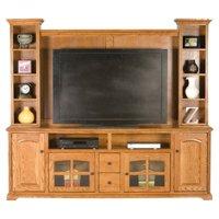 Eagle Furniture Oak Ridge 90 in. Entertainment Console with Optional Hutch