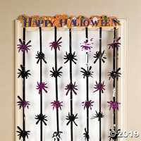 Foil Happy Halloween Door Curtain Halloween Décor