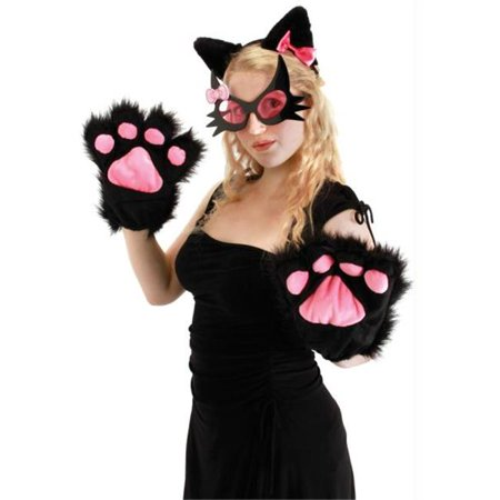 Costumes for all Occasions EL424002 Kitty Paws Black (Black Kitty Ears)