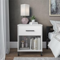 Your Zone Single Drawer Nightstand, White