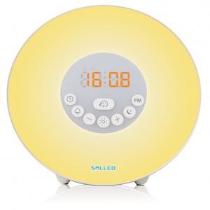 Wake Up Light Alarm Clock Lamp FM Radio Sunset 7 Color 7Alarm Sounds Snooze