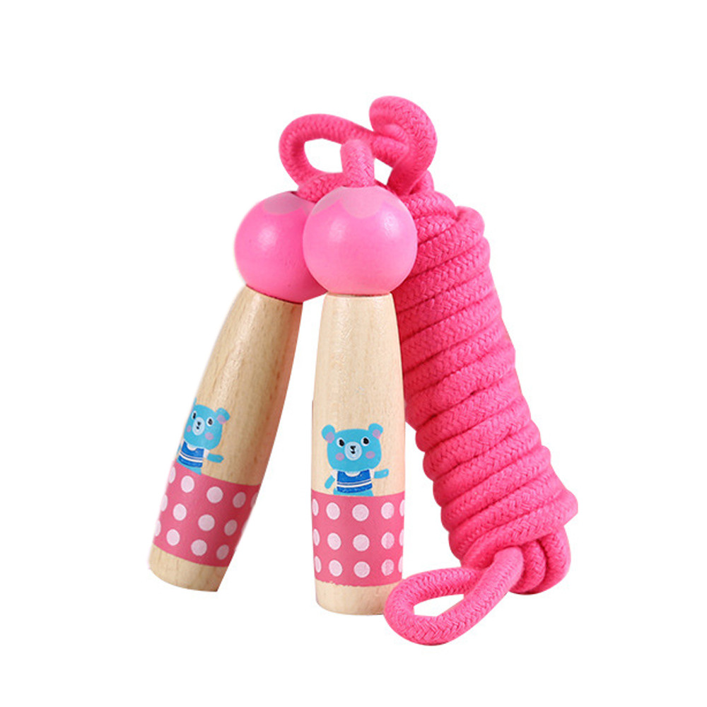 DZT1968 3.0m Cartoon High Quality Wooden Handle Jump Rope Toy Gift For Kids