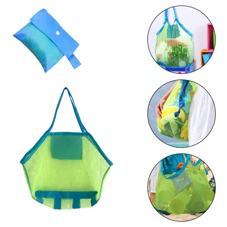 Muxika Extra Large Heavy Duty Mesh Bag. Best for Soccer Ball, Water Sports, Beach Cloth, Swimming Gears. Adjustable Shoulder Strap Made to Fit Adults and Kids. Secure Side Pocket for Personal
