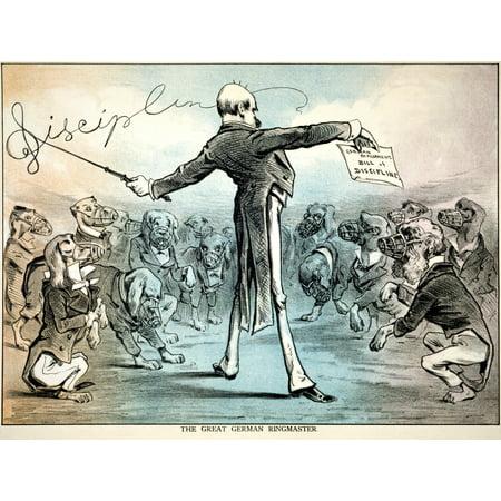 Otto Von Bismarck N(1815-1898) Prince Otto Von Bismarck-Schonhausen Bismarck As The Master Of The German Parliament American Cartoon 1879 Rolled Canvas Art -  (24 x 36)