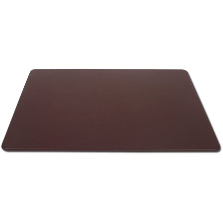 Chocolate Brown Leather 38 x 24 Desk Mat without Rails ()
